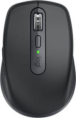 profesionalni miš Logitech MX Anywhere 3, graphite (910-005988) 4.000 DPI, programabilni gumbi, novi skener, ergonomski dizajn, ugrađena memorija